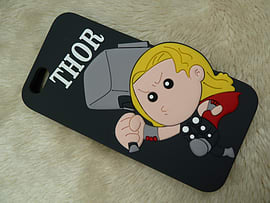 DIA CARTOON THOR SILICONE CASE COVER FOR IPHONE 6+ (B4 GREY) Mobile phones
