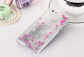 DIA LIQUID SILVER STARS HARD CASE COVER FOR IPHONE 5 (B6 CLEAR/SILVER) Mobile phones