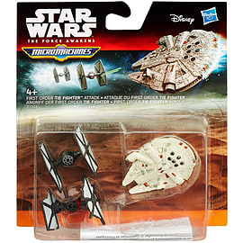 Star Wars The Force Awakens Micro Machines 3-Pack First Order TIE Fighter Attack Figurines and Sets