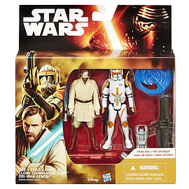 Star Wars EP III 3.75 inch Figure 2 Pack Desert Mission Obi-Wan and CDR Cody Figurines and Sets