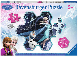 Disney Frozen Shaped Puzzle, 73pc Traditional Games