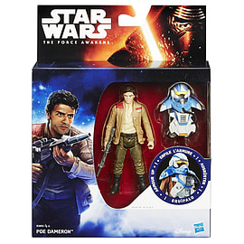 Star Wars The Force Awakens Armour Up 9cm Poe Dameron Figure Figurines and Sets