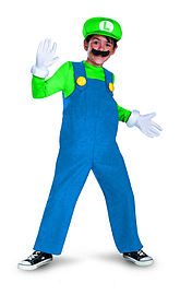 Disguise Boys Nintendos Super Mario Brothers Luigi Deluxe Costume, 4-6 Clothing