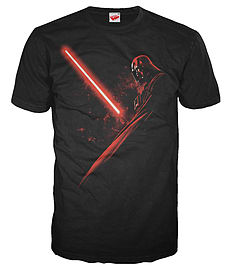 Star Wars Vader Shadow Official Men's T-Shirt (Black) (Small) Clothing