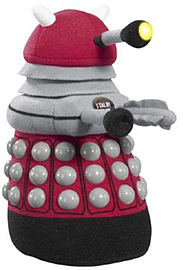 Doctor Who Dalek Talking Plush with LED Light (Medium, Burgundy) Soft Toys