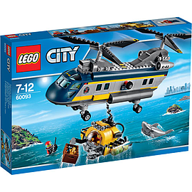 LEGO City Deep Sea Helicopter 60093 Blocks and Bricks