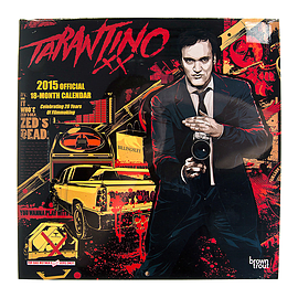 Official Quentin Tarantino 2015 18 Month Calendar 30cm x 30cm - Cult Movie Merch Books