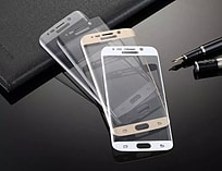 Full curved for Samsung S6 Edge 3D Anti-Dust Screen Protector Tempered Glass Film - Gold screen shot 1