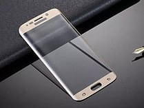 Full curved for Samsung S6 Edge 3D Anti-Dust Screen Protector Tempered Glass Film - Gold screen shot 2