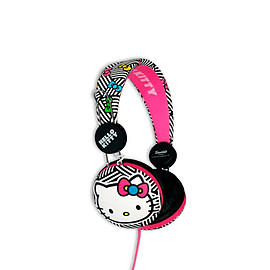 Hello Kitty Headphones New Stereo Earphones Noise Cancelling Pink Audio Earphone Audio