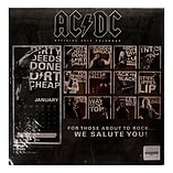 Official AC/DC 30 x 30cm Rock Band Music 2015 Annual Calendar Stationary Gift screen shot 1