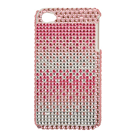 Blue Banana Phone Cases - Pink Crystal Mobile Cover - White iPhone 4 Protector Mobile phones