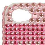 Blue Banana Phone Cases - Pink Crystal Mobile Cover - White iPhone 4 Protector screen shot 1