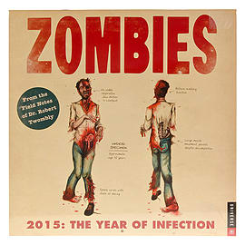 Zombies The Year Of Infection Undead Graphic Horror Gift 2015 Calendar Planner Books