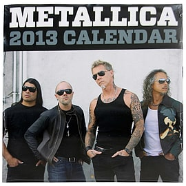 Metallica 2013 Calendar Books