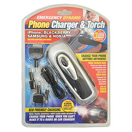 Festival Kits - Phone Charger / Black 3 LED Dynamo Torch Kit - Camping Survival Mobile phones