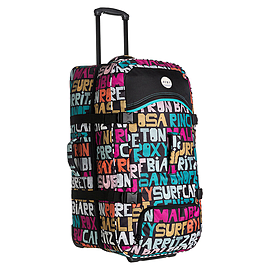 New Multi Coloured Roxy Typo Long Haul Travel Luggage Case Suitcase Accessories Mobile phones