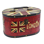 Blue Banana Keepsake Boxes - 2 Union Jack Wood Containers - Flag Design Case screen shot 1