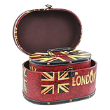 Blue Banana Keepsake Boxes - 2 Union Jack Wood Containers - Flag Design Case screen shot 2