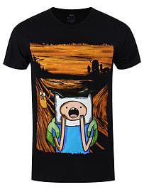 Adventure Time The Scream Black Men's AT T-shirt: Extra Large (Mens 42- 44) Clothing