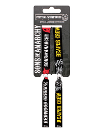 Sons of Anarchy Set of 2 Black SoA Festival Wristband Clothing