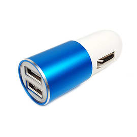 Frostycow Dual Power 3.1a Dual USB Car Cigarette Charger 12v For Smart Phones & Tablets Blue Mobile phones