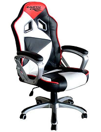 EarthCroc Black White Red Office Racing Gaming Chair Y-2860 Multi Format and Universal