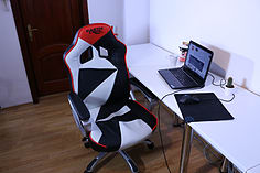 EarthCroc Black White Red Office Racing Gaming Chair Y-2860 screen shot 1