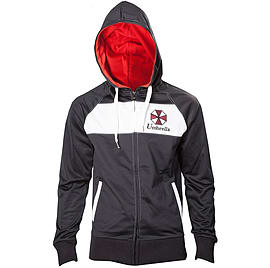 CAPCOM Resident Evil Umbrella Corporation Full Length Zipper Hoodie M Black/White (HD208020RES-M) Clothing