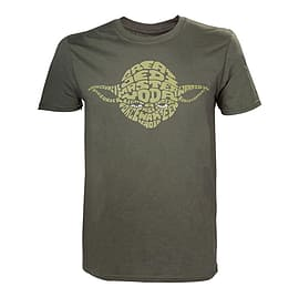 STAR WARS Adult Male Yoda Word Play T-Shirt, Large, Green (TS110617STW-L) Clothing