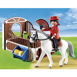 Playmobil Country Flamenco Horse With Stall Blocks and Bricks