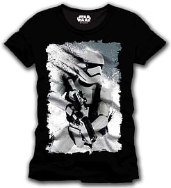 Star Wars Vii Men's The Force Awakens Distressed Stormtrooper T-shirt, Large, Black (cd104stw-l) Clothing