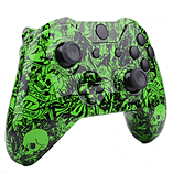 Xbox One Controller -Green Tattoo Skull screen shot 2