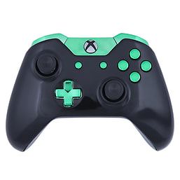Xbox One Controller -Gloss Black & Chrome Green Edition XBOX ONE