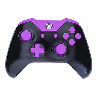 buy xbox one controller -gloss black & purple edition | game