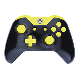 Xbox One Controller -Gloss Black & Yellow Edition XBOX ONE