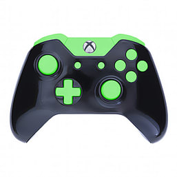 Xbox One Controller -Gloss Black & Green Edition XBOX ONE