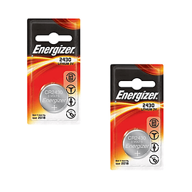 2 x Energizer CR2430 3V Lithium Coin Cell Battery Batteries Multi Format and Universal