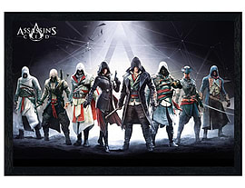 Assassins Creed Black Wooden Framed Compilation Maxi Poster 91.5x61cm Posters
