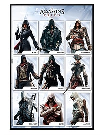 Assassins Creed Gloss Black Framed Characters Maxi Poster 61x91.5cm Posters
