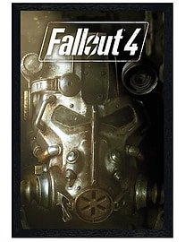 Fallout 4 Black Wooden Framed Mask Maxi Poster 61x91.5cm Posters
