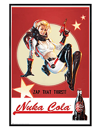 Fallout 4 Gloss Black Framed Nuka Cola Maxi Poster 61x91.5cm Posters