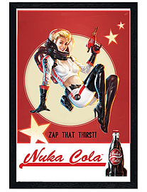 Fallout 4 Black Wooden Framed Nuka Cola Maxi Poster 61x91.5cm Posters