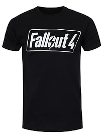 Fallout 4 Logo Black Men's T-shirt: Large (Mens 40- 42) Clothing