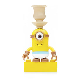Mega Bloks Despicable Me Minions Series 3 Figure - Stuart (Vase on Head) Blocks and Bricks
