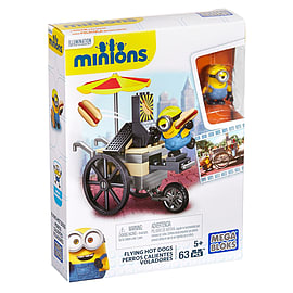 Mega Bloks Minions Small Playset - Flying Hot Dog Cart Blocks and Bricks