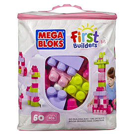 Mega Bloks Pink Buildable Bag (60 Pieces) Blocks and Bricks