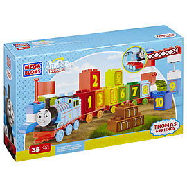Mega Bloks 123 Thomas Learning Train Blocks and Bricks