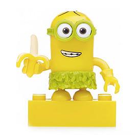 Mega Bloks Despicable Me Minions Series 3 Figure - Kevin (Hula with Banana) Blocks and Bricks