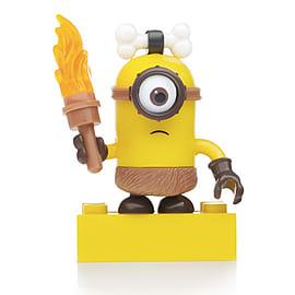 Mega Bloks Despicable Me Minions Series 3 Figure - Stuart (Caveman with Torch) Blocks and Bricks